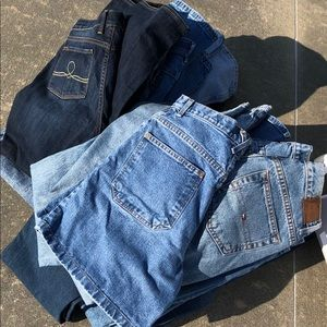 5 Pairs of Vintage High Waisted Jeans & Shorts 👖